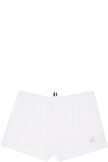 Thom Browne - Off-White Poplin Boxers
