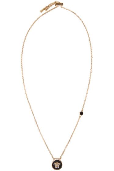 Versace - Black Small Medusa Necklace