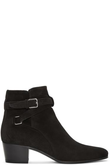 Saint Laurent - Black Black Jodhpur Boots
