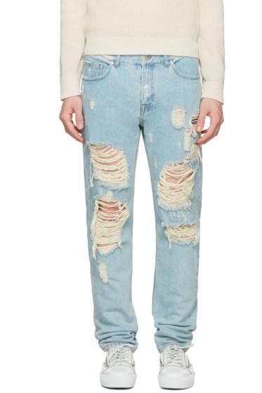 MSGM - Blue Destroyed Jeans