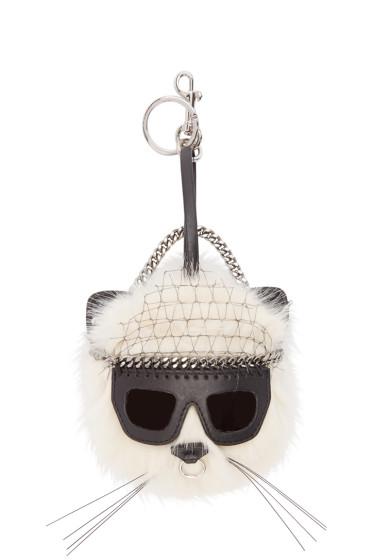 Stella McCartney - Ivory Sunglasses Cat Keychain