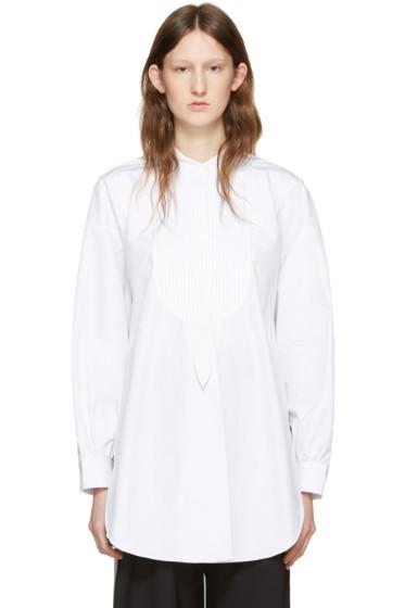 J.W.Anderson - White Cotton Plisse Shirt