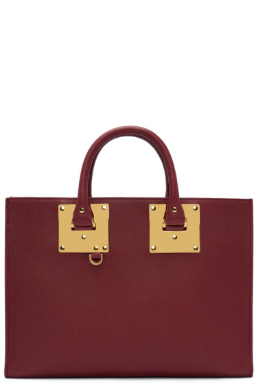 Sophie Hulme - Burgundy Albion East West Tote