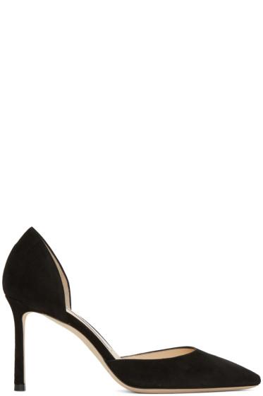 Jimmy Choo - Black Suede Esther D'Orsay Heels
