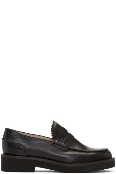 Jil Sander Navy - Black Leather Galaxy Loafers