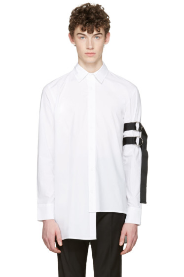 D by D - White Asymmetric Straps Shirt