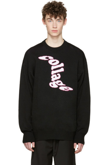 D by D - Black Collage Sweater