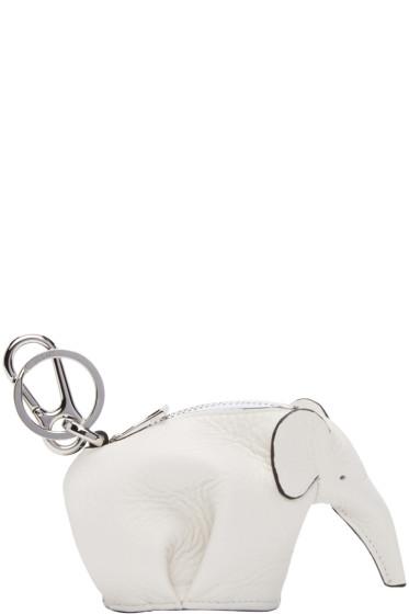 Loewe - White Elephant Keychain