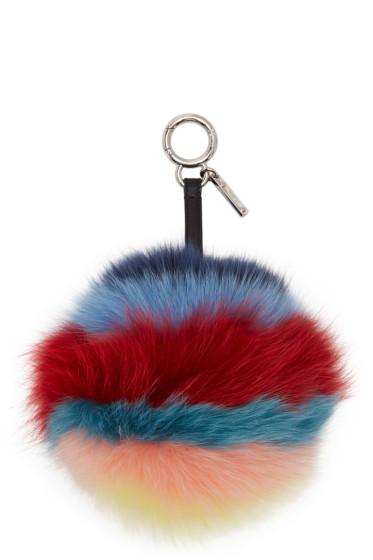 Fendi - Multicolor PomPom Keychain