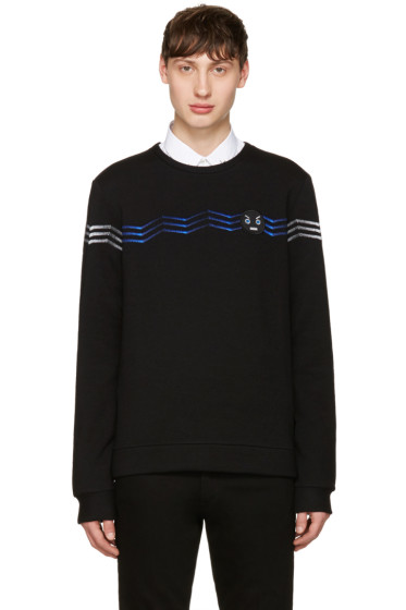 Fendi - Black Zig Zag Faces Sweatshirt