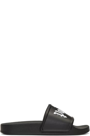 Palm Angels - Black Logo Sandals