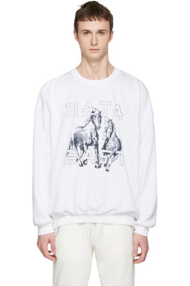 Baja East - White Be Sweatshirt