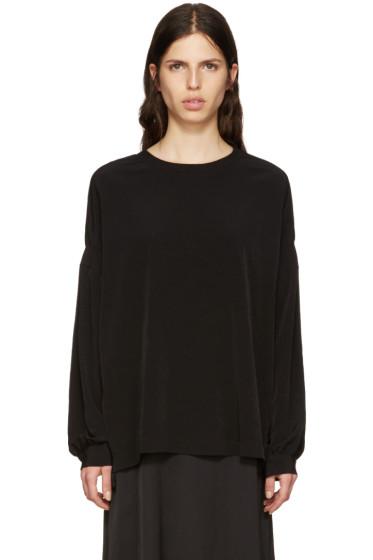 Y's - Black Satin Pullover