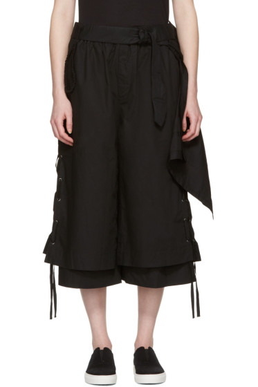 Craig Green - Black Cotton Long Layered Shorts