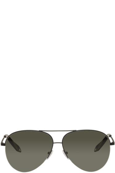 Victoria Beckham - Black Classic Victoria Aviator Sunglasses