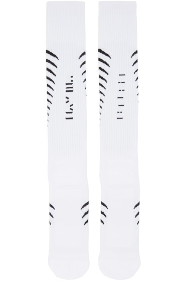 Unravel - White Back Bone Socks