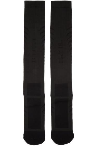 Unravel - Black Back Bone Socks