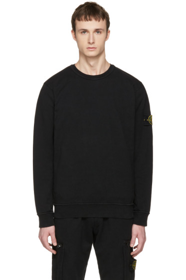 Stone Island - Black Arm Patch Pullover