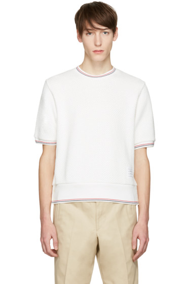 Thom browne t shirts for men ssense for Thom browne t shirt