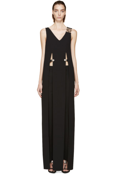 Versus - Black Crepe Anthony Vaccarello Edition Slit Dress