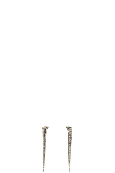 Pearls Before Swine - Silver Thorn Earrings