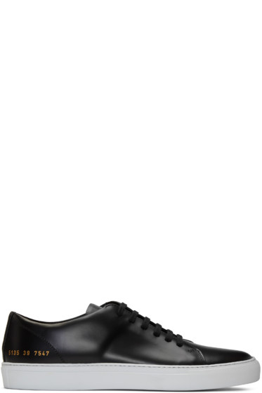 Common Projects - Black New Court Low Sneakers