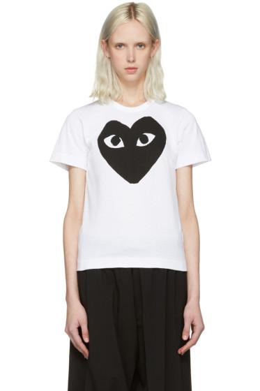 Comme des Garçons Play - White Heart T-Shirt