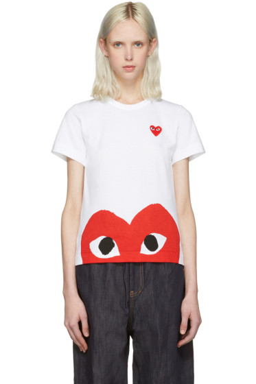 Comme des Garçons Play - White Half Heart T-Shirt