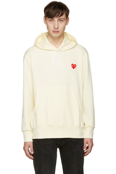 Comme des Garçons Play - Yellow Heart Patch Hoodie