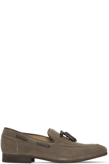 H by Hudson - Grey Suede Pierre Loafers