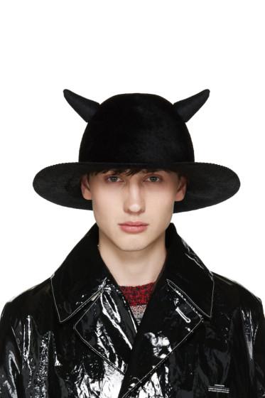 Undercover - Black Horned Rabbit Fur Hat