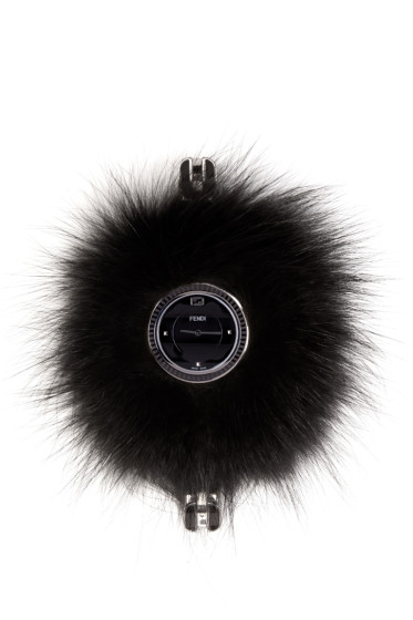 Fendi - Silver & Black My Way Fur Glamy Watch