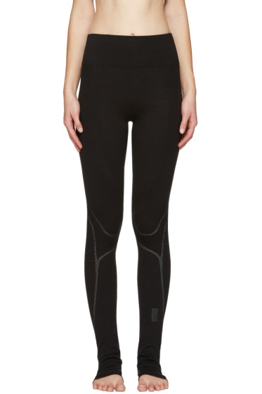 Y-3 SPORT - Black Fine Knit Leggings