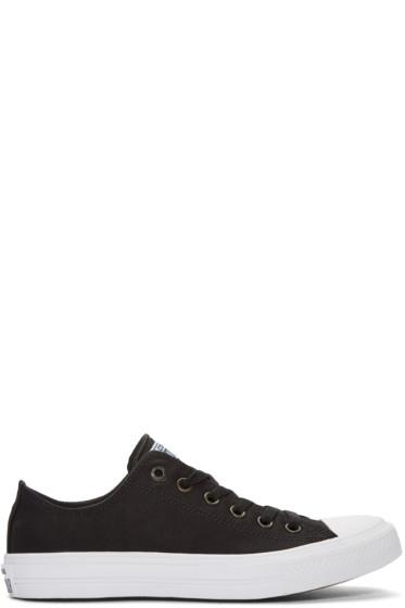 Converse - Black Chuck Taylor All Star II Ox Sneakers