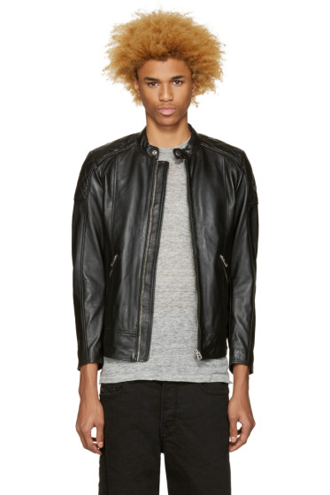 Diesel - Black Leather L-Marton Jacket