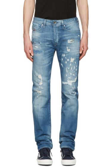 Diesel - Blue Buster Destryoed Jeans