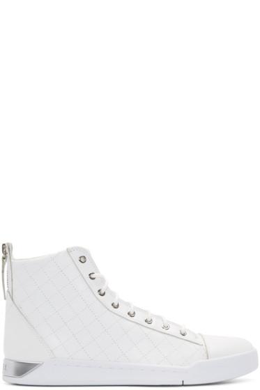 Diesel - White Diamond High-Top Sneakers