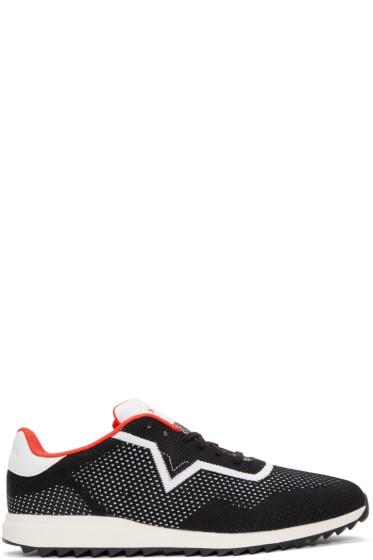Diesel - Black & White S-Swift Knit Sneakers
