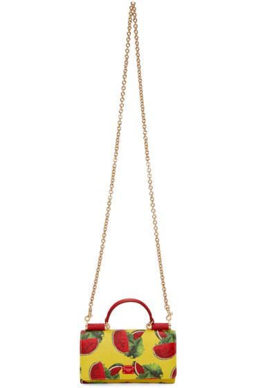 Dolce & Gabbana - Yellow Watermelon Small Chain Wallet Bag