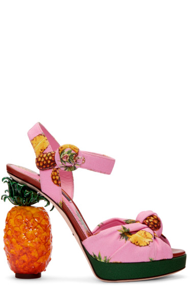 Dolce & Gabbana - Pink Pineapple Sandals