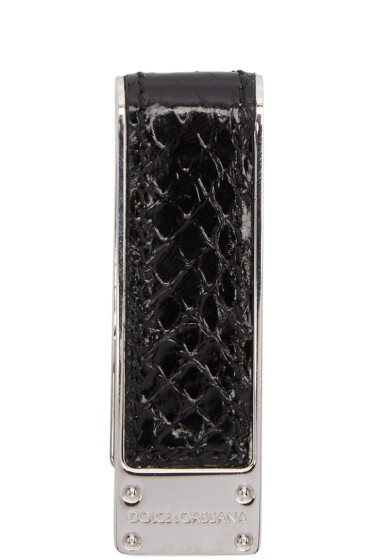 Dolce & Gabbana - Black Snake Money Clip
