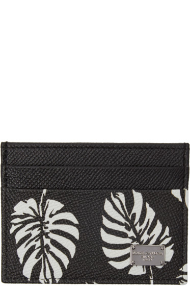 Dolce & Gabbana - Black Leaves Card Holder