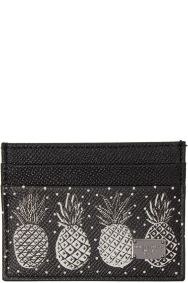Dolce & Gabbana - Black Pineapple Card Holder