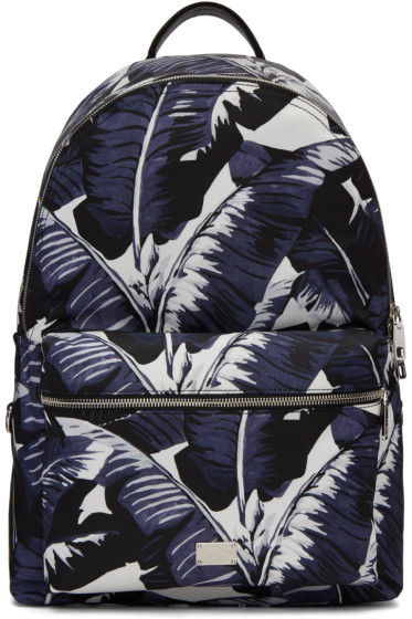 Dolce & Gabbana - Multicolor Banana Leaves Print Backpack