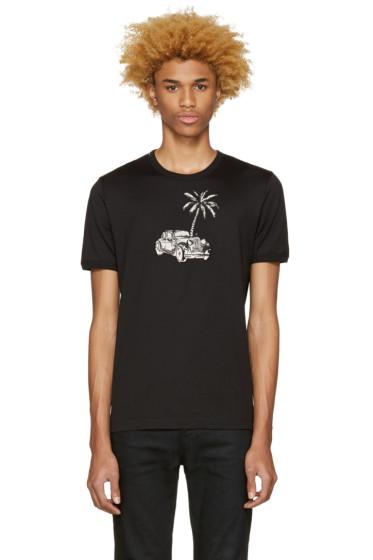 Dolce & Gabbana - Black Palm Tree T-Shirt