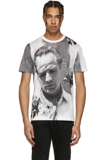 Dolce & Gabbana - White Pensive Marlon Brando T-Shirt