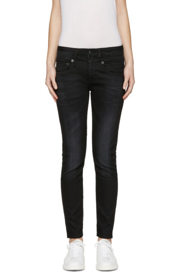 R13 - Black Boy Skinny Jeans