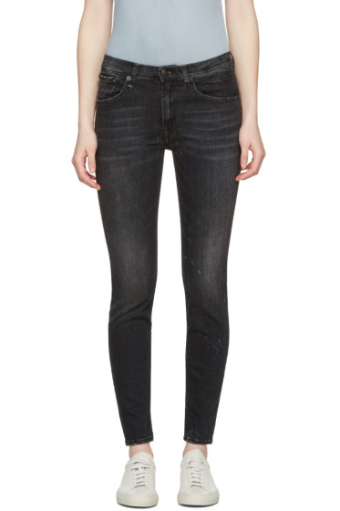 R13 - Black High Rise Jeans