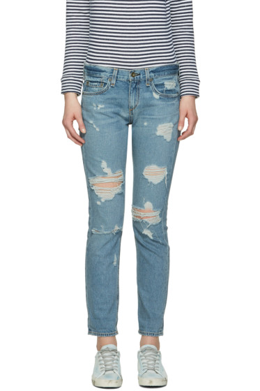 Rag & Bone - Blue Boyfriend Jeans
