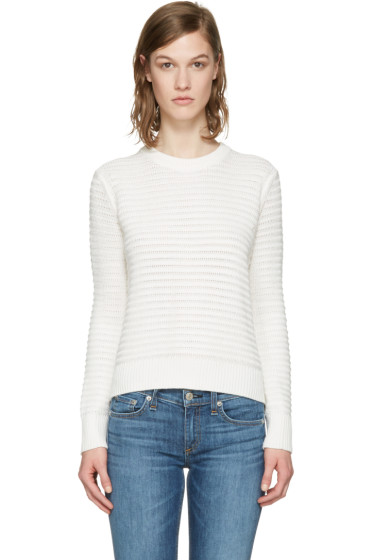 Rag & Bone - White Knit Open Back Sweater